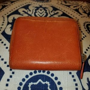 Cole Haan Orange Leather Wallet